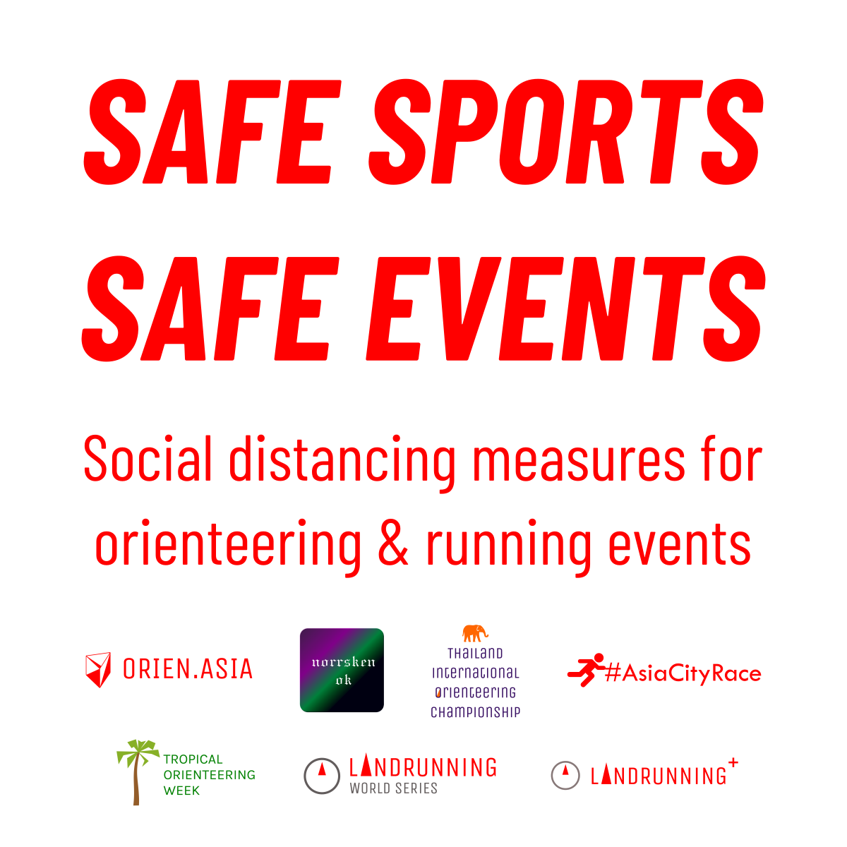 Safe sports, safe events: social distancing measures for orienteering and running events