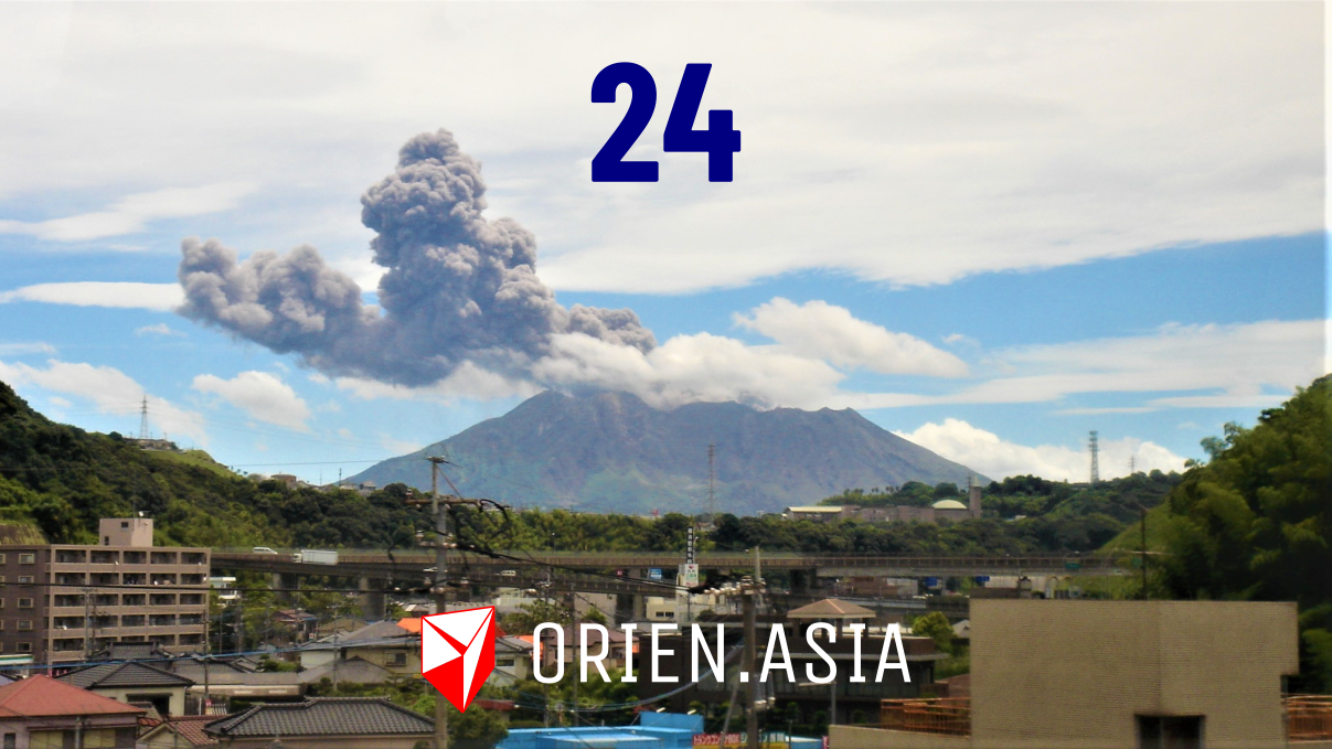 Advent calendar 2020 - 24: Sakurajima volcano, Japan
