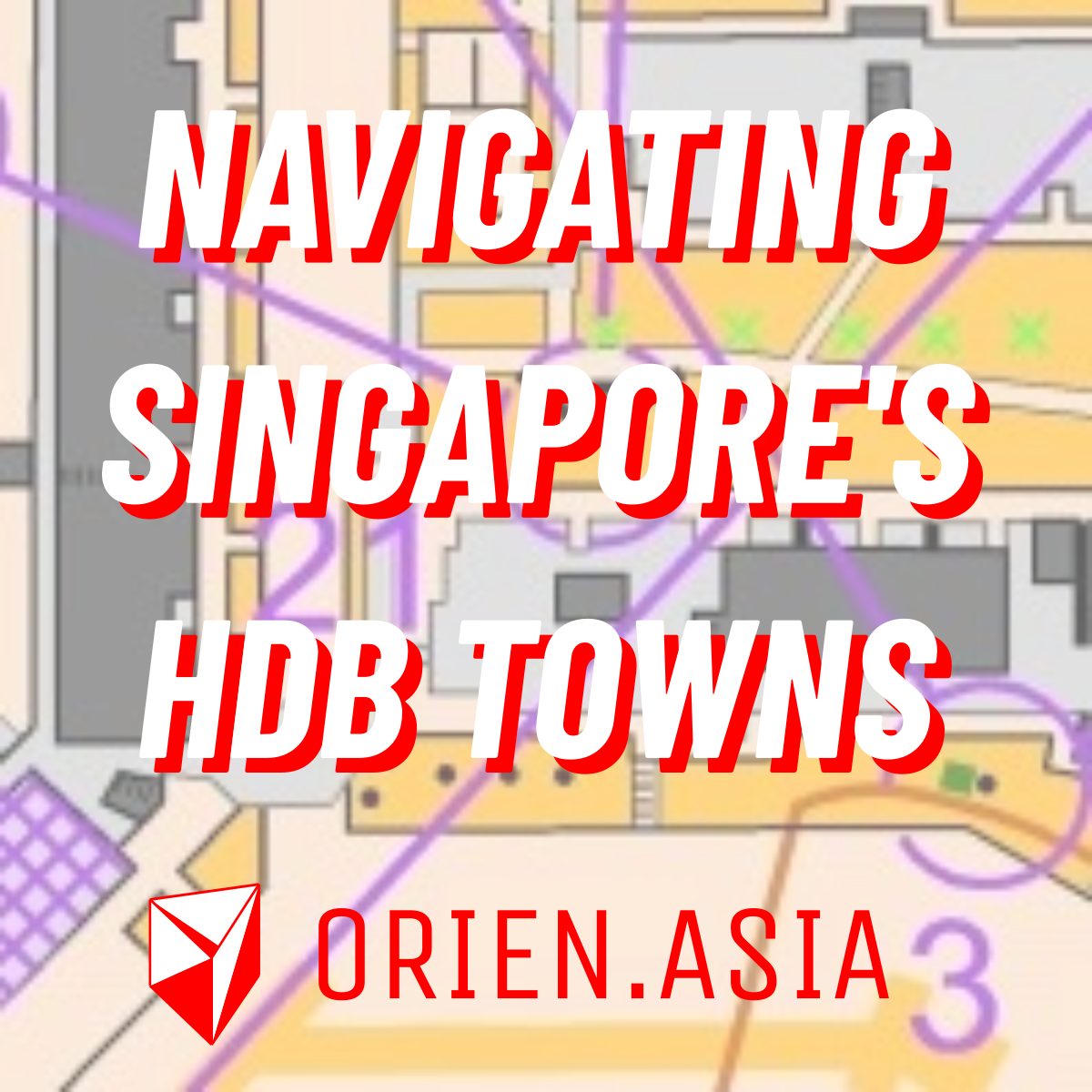 Navigating Singapore's HDB towns with orienteering